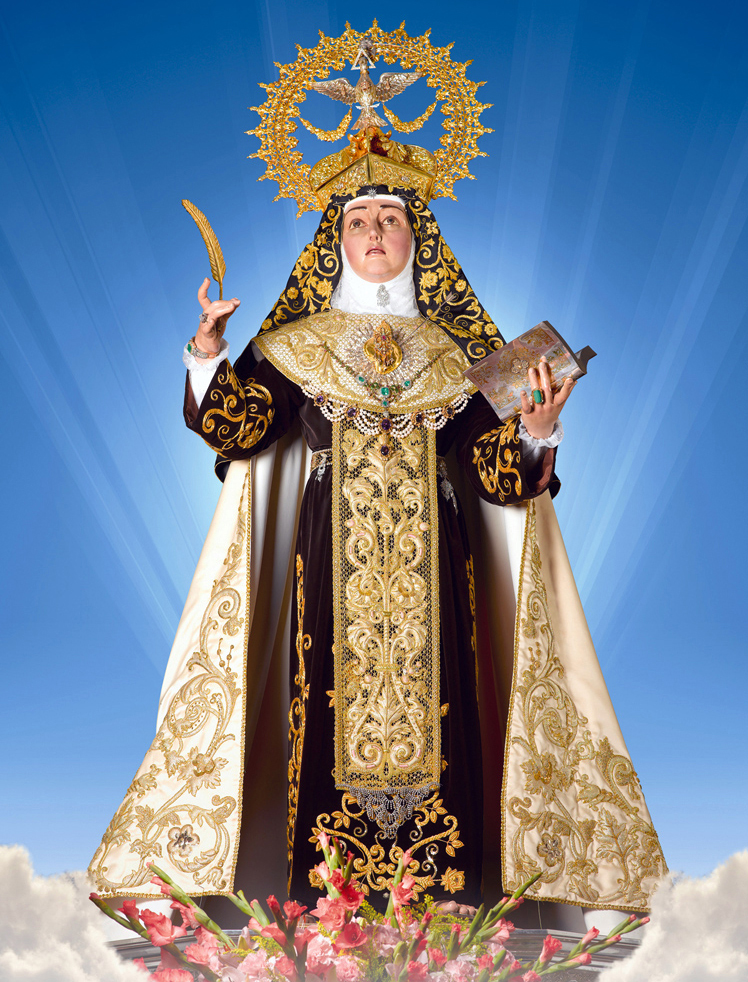 "<a href=""https://www.palmarianchurch.org/crowned-saint-teresa-of-jesus/"" title=""Crowned Saint Teresa of Jesus"">Crowned Saint Teresa of Jesus<br><br>See more</a>"
