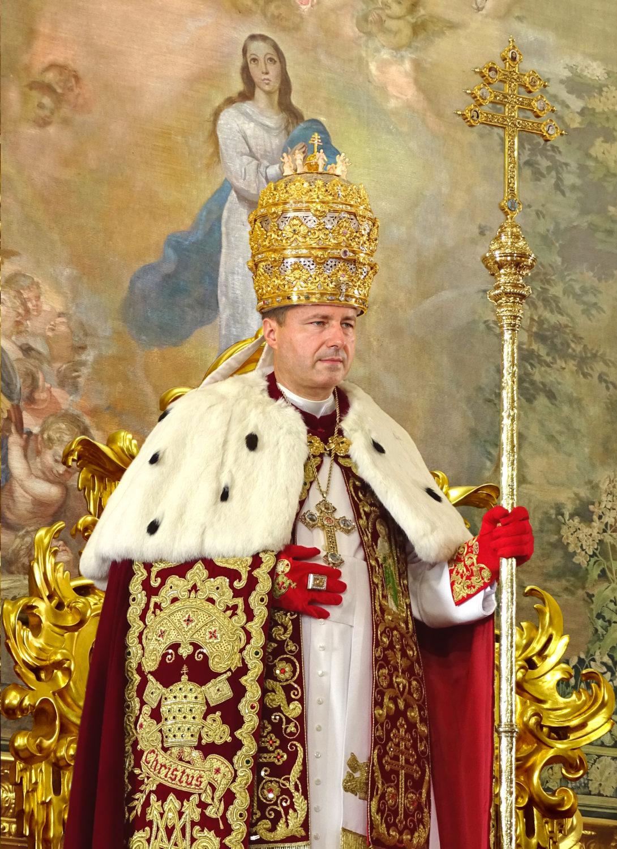 Sa Sainteté le Pape Pierre III  <br><i> De Glória Ecclésiæ </i><br><br> Heureusement régnant <br><br><br> En Savoir Plus