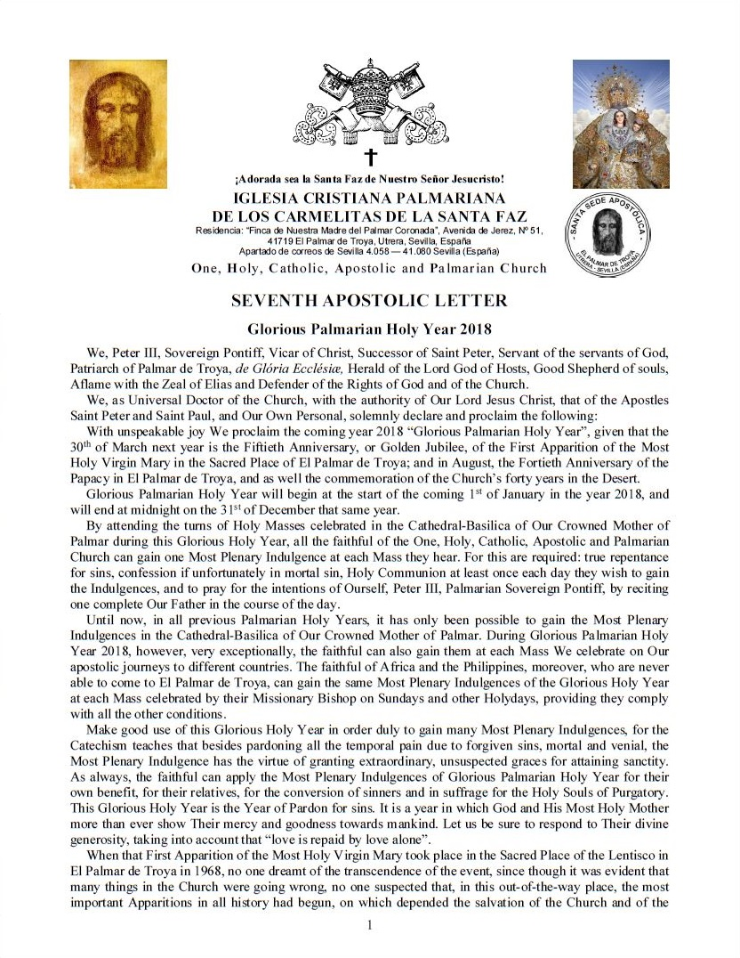 Ang Ika-pitong Apostolikong Sulat ni Papa Pedro III<br><br> Magbasa pa