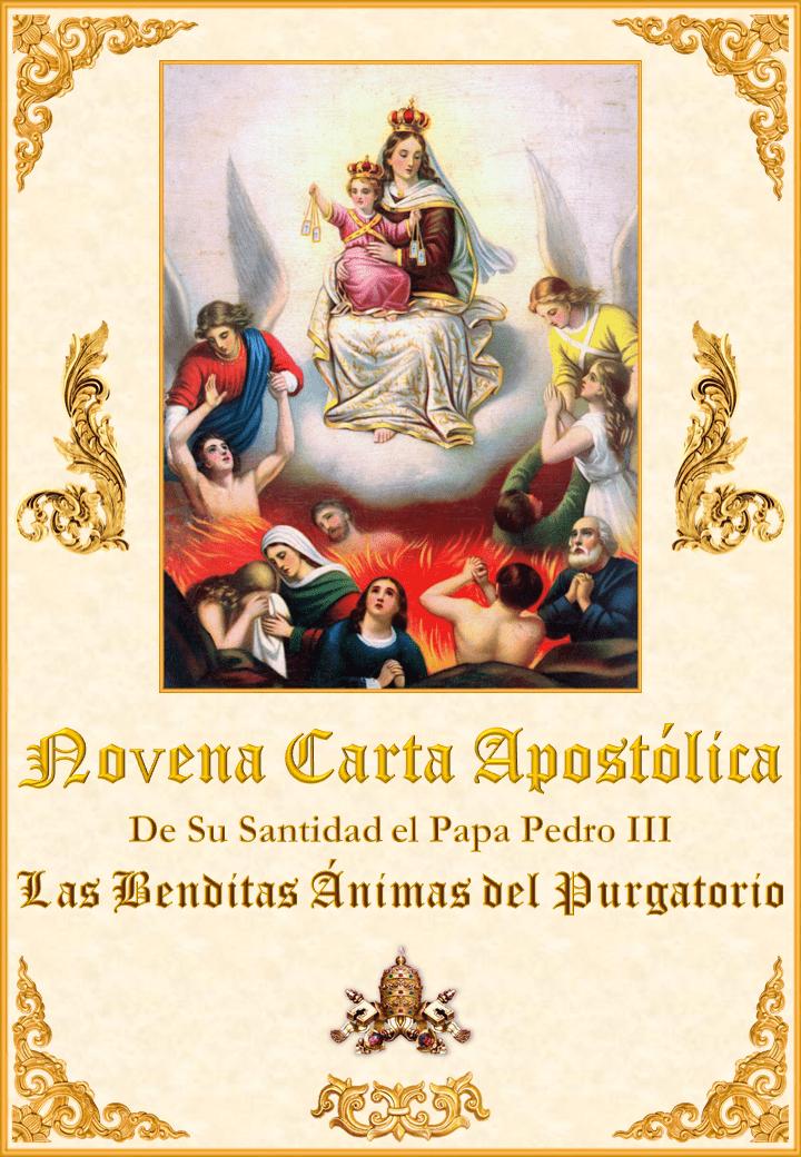 "<a href=""https://www.iglesiapalmariana.org/wp-content/uploads/2019/08/Novena-Carta-Apostolica-de-Su-Santidad-el-Papa-Pedro-III.pdf"" title=""Nona carta Apostólica de sua Santidade o Papa Pedro III sobre as benditas almas do purgatório""><i>Nona Carta Apostólica de sua Santidade o Papa Pedro III sobre as benditas almas do purgatório. </i><br><br>Ver mais</a>"