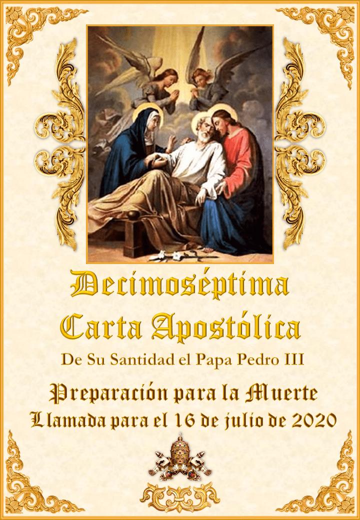 "<a href=""/wp-content/uploads/2020/03/Decimoseptima-Carta-Apostolica-Papa-Pedro-III-Espanol.pdf"" title=""Decimoséptima Carta Apostólica de Su Santidad el Papa Pedro III""><i>La Decimoséptima Carta Apostólica de Su Santidad el Papa Pedro III</i><br><br>Vedi altro</a>"