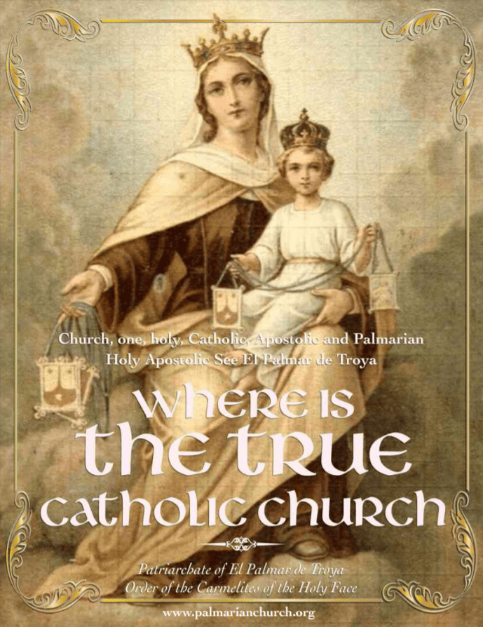 "<a href=""https://www.palmarianchurch.org/wp-content/uploads/2018/11/where-is-the-true-church-english.pdf"" title=""Where is the True Church?"">Where is the True Church? <br><br>See more</a>"