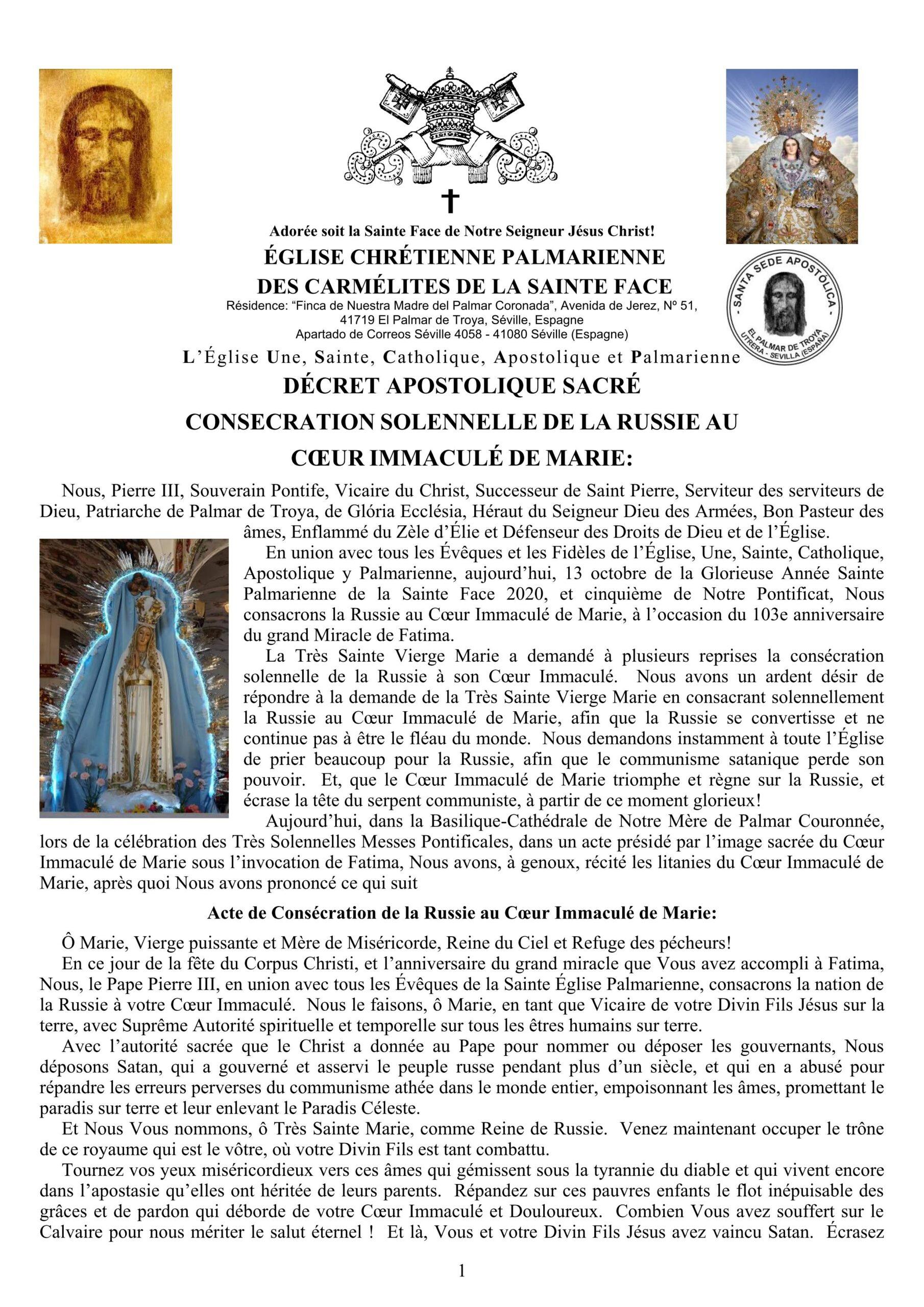"""<a href=""""/wp-content/uploads/2021/01/French_-Decreto-Consagracion-de-Rusia.pdf"""" title=""""Décret Apostolique Sacré Consecration Solennelle De La Russie au Cœur Immaculé de Marie""""><i>Décret Apostolique Sacré Consecration Solennelle De La Russie au Cœur Immaculé de Marie</i><br><br>En Savoir Plus"""