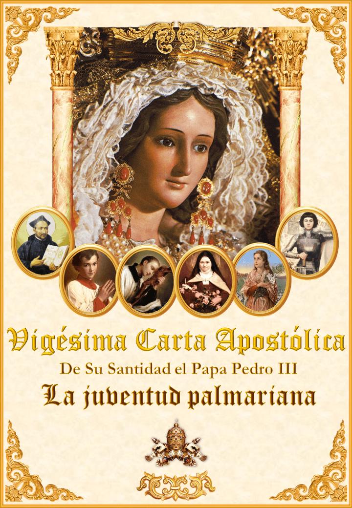 "<a href=""/wp-content/uploads/2021/03/Carta-20-ESP-Website.pdf"" title=""La Vigésima Carta Apostólica de Su Santidad el Papa Pedro III""><i>La Vigésima Carta Apostólica de Su Santidad el Papa Pedro III</i><br><br>Ver más</a>"