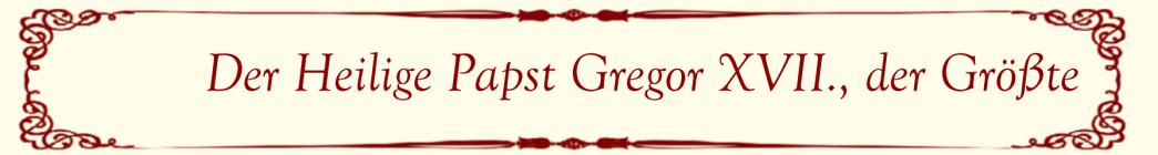 Der Hl. Papst Gregor XVII