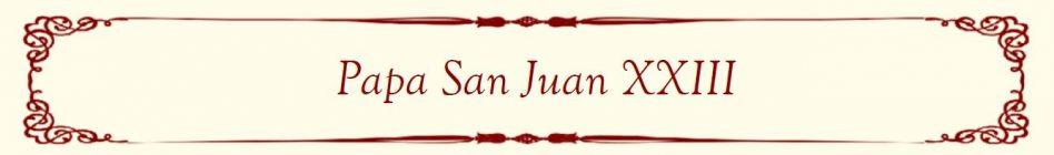 Pope John XXIII Banner (Filipino)