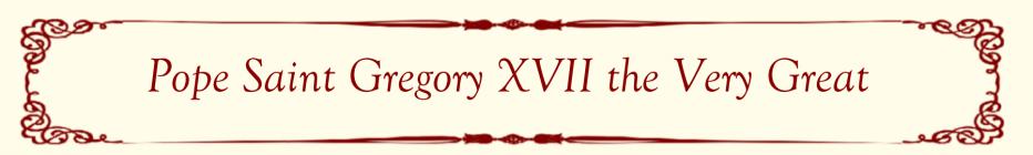 Pope Saint Gregory XVII