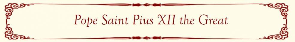 Pope Saint Pius XII Banner