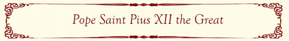 Pope Saint Pius XII Banner