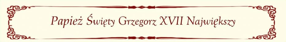 St. Pope Gregory - Polish