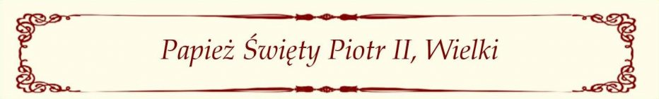 St. Pope Peter II - Polish
